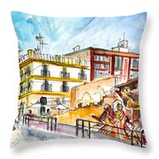 By The Old Cathedral In Cartagena 02 Throw Pillow