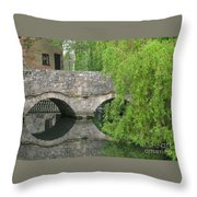 By The Old Mill Stream Throw Pillow