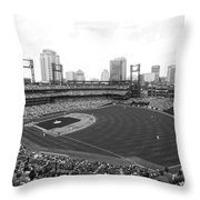 By The Right Field Foul Pole Bw Throw Pillow