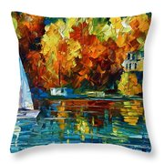 By The Rivershore Throw Pillow