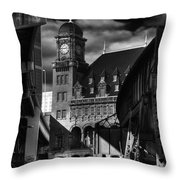 By The Station Throw Pillow by Tim Wilson