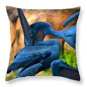 By The Throat Throw Pillow