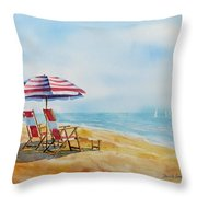 By The Waterfront Throw Pillow