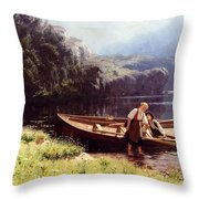 By The Waters Edge Throw Pillow