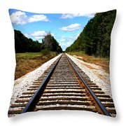 Never Ending Tracks Throw Pillow