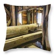 Bygone Sawmill Throw Pillow