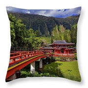 Byodo-in-temple Throw Pillow