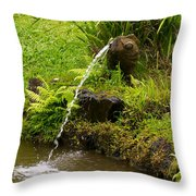 Byodo In Temple Throw Pillow