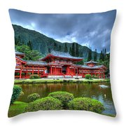 Byodo Temple Throw Pillow