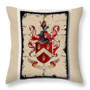 Byrne Coat Of Arms Throw Pillow