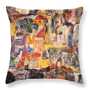Byzantine Characters #1 Throw Pillow by Richard Baron