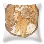 Byzantine Head Of A Blond Maiden Throw Pillow