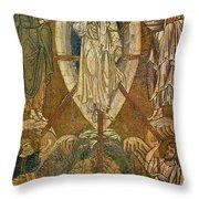 Byzantine Icon Depicting The Transfiguration Throw Pillow