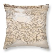 Byzantine Mosaic Depicting Animals And Hunting Scenes. Throw Pillow