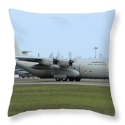C-130j Super Hercules Of The Royal Thai Throw Pillow