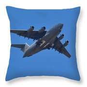 C 17 Globemaster Throw Pillow