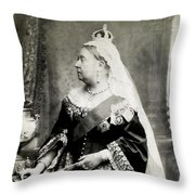 C. 1880 Her Majesty Queen Victoria Throw Pillow