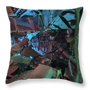 C-47 Cockpit Throw Pillow