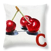 C Art Alphabet For Kids Room Throw Pillow