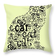 C Is For Cat Throw Pillow