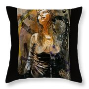 C215 Beautiful Model Throw Pillow