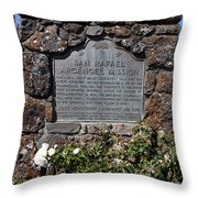 Ca-220 San Rafael Arcangel Mission Throw Pillow