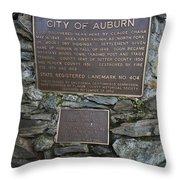 Ca-404 City Of Auburn Throw Pillow