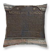 Ca-489 Moreland School Throw Pillow
