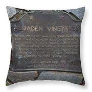Ca-505 Almaden Vineyards Throw Pillow