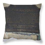 Ca-628-629 Alpha And Omega Throw Pillow