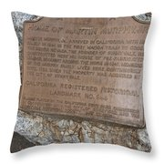 Ca-644 Home Of Martin Murphy Jr Throw Pillow