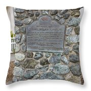 Ca-714 Mendocino Presbyterian Church Throw Pillow