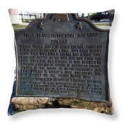 Ca-780-5 First Transcontinental Railroad - Colfax Throw Pillow