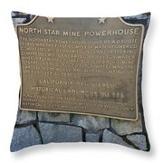 Ca-843 North Star Mine Powerhouse Throw Pillow