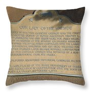 Ca-909 Our Lady Of The Wayside Throw Pillow