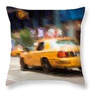 Cab Ride Throw Pillow