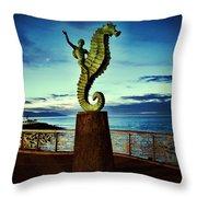 Caballeo Del Mar Throw Pillow