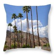 Cabanas Palm Springs Throw Pillow