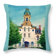 Cabarrus County Courthouse Throw Pillow