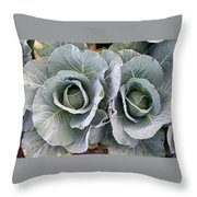 Cabbage Duo Throw Pillow