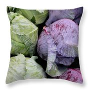 Cabbage Friends Throw Pillow