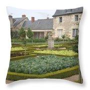 Cabbage Garden  Chateau Villandry Throw Pillow
