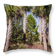 Cabbage Palm Throw Pillow