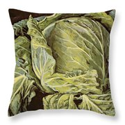 Cabbage Still Life Throw Pillow