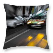 Cabbie Too Fast Throw Pillow