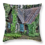 Cabin At Cooks Station Throw Pillow