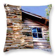 Cabin At Mabry Mill Throw Pillow