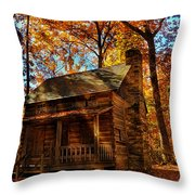Cabin At The Cove Throw Pillow
