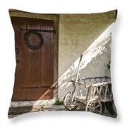 Cabin Door Throw Pillow