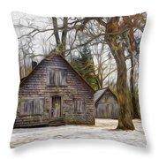 Cabin Dream Throw Pillow by Debra and Dave Vanderlaan